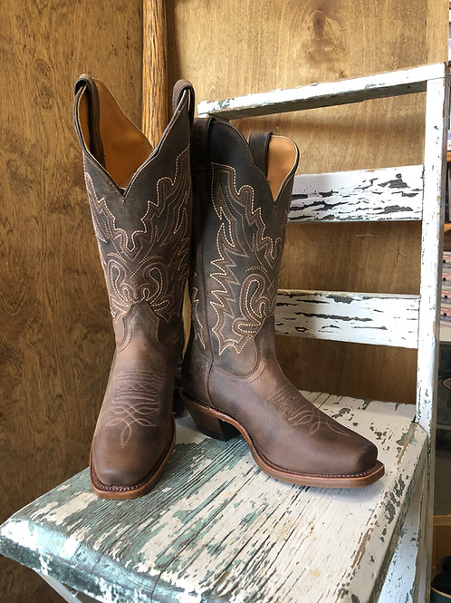 Boulet 3166 Ladies cowboy boot with cutter toe and leather sole