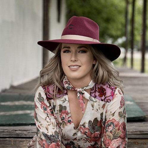 Charlie 1 Horse Highway Fashion Hat Burgundy