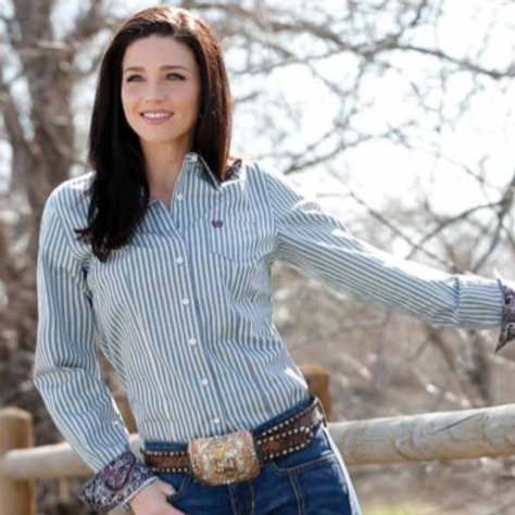 CINCH LADIES BUTTON FRONT SHIRT MSW9164127