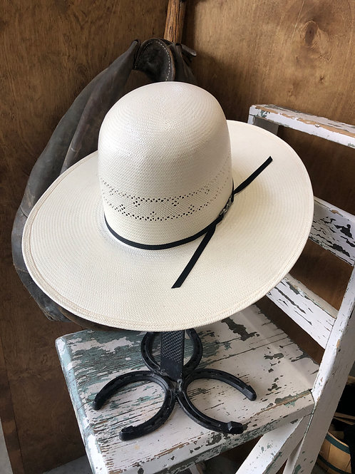 American Hat Straw 7210 Solid Weave - Fancy Vent - Ivory
