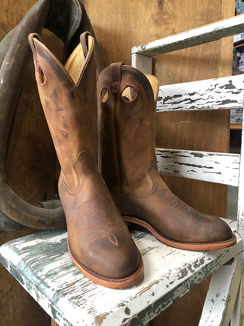 Boulet 9397 Mens Round toe Cowboy Boot with Rider Sole