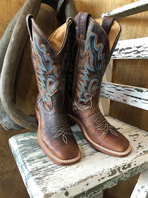 "BOULET 7247 ladies 13"" Damiana Moka Cowboy boot"