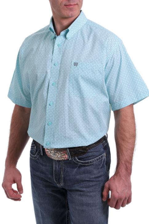 Mens Cinch Short Sleeve Western Shirt