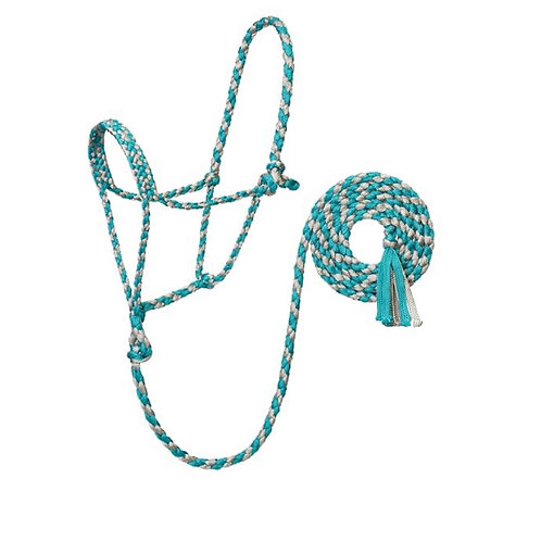 WEAVER BRAIDED ROPE HALTERS VARIOUS COLOURS