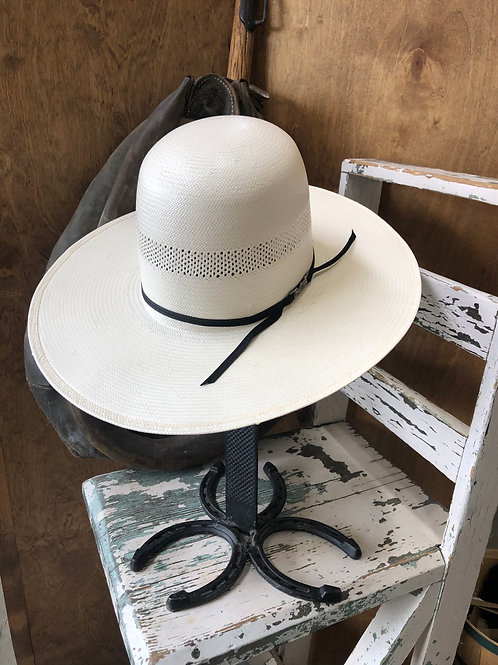 American Hat Straw 7104 Solid Weave, Fancy Vent - Ivory