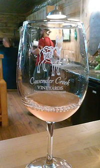 Nice glass of Rose at the winery