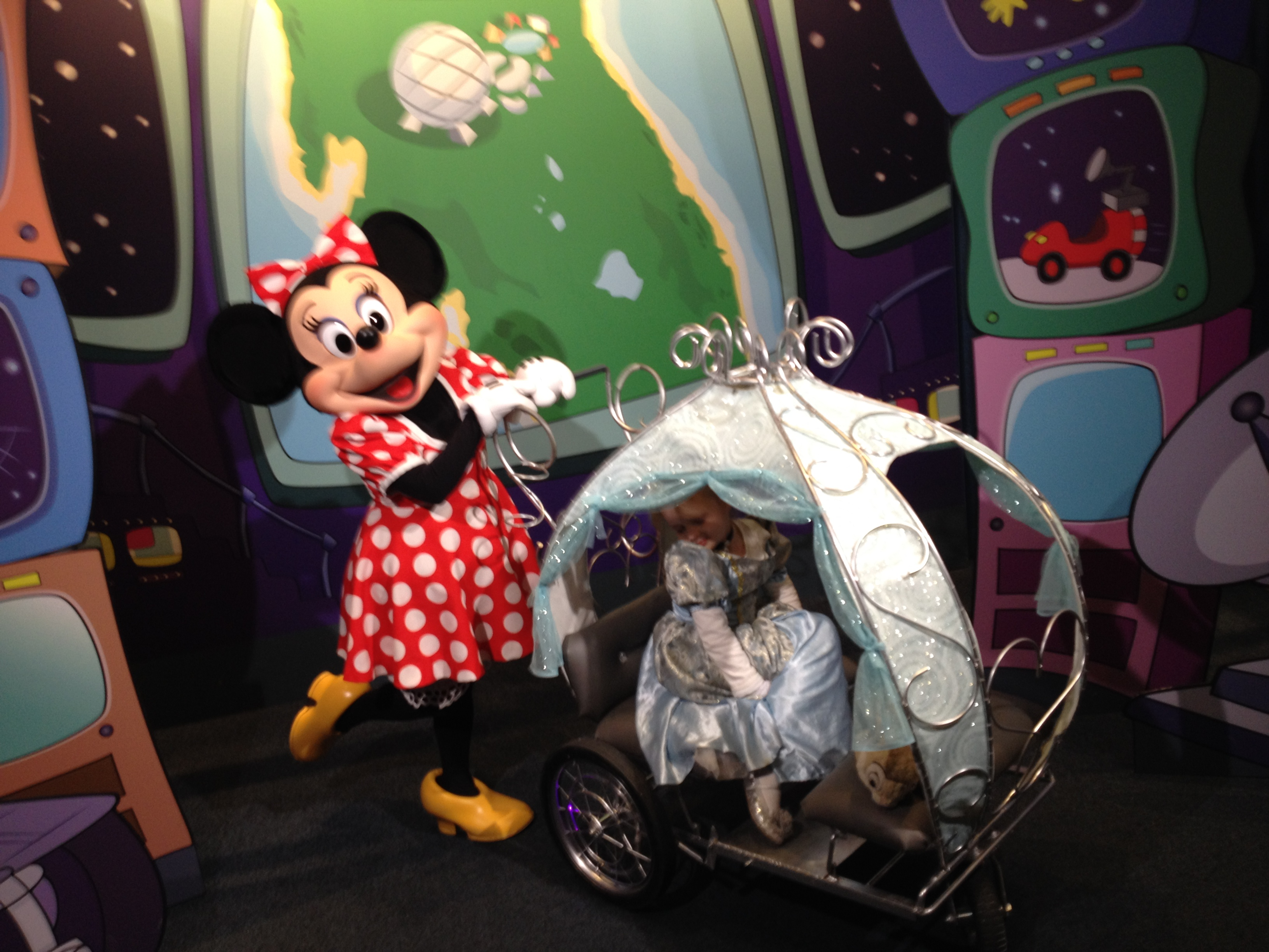 Minnie Pushing Stroller