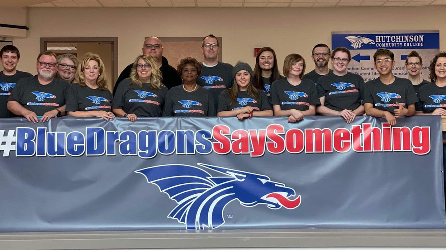 #BlueDragonsSaySomething Hutchinson Community College Custom Apparel & Banner