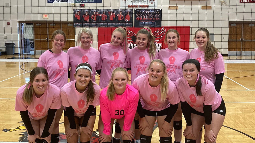 Kingman HS Volleyball Pink Out Night