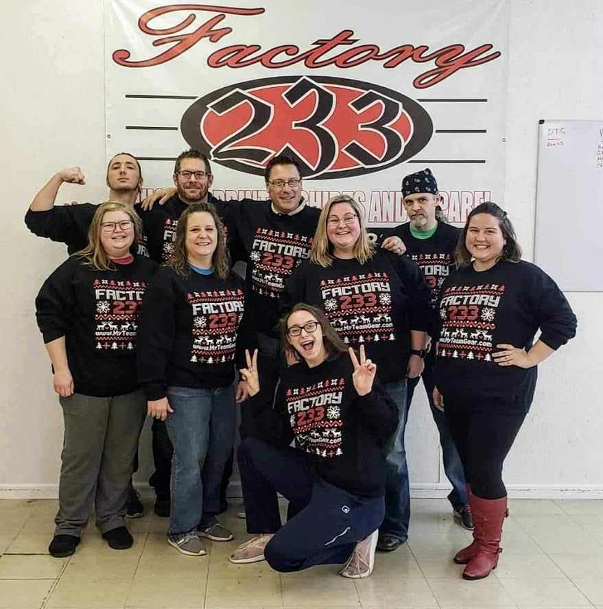 "Factory 233's ""Ugly"" Christmas Sweater"