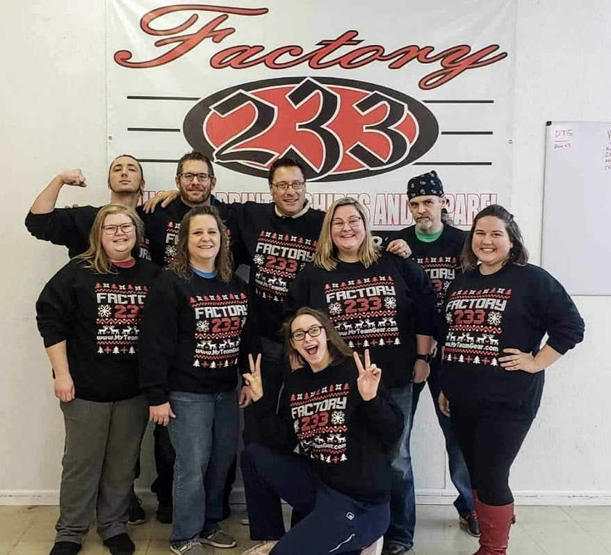 """Factory 233's """"Ugly"""" Christmas Sweater"""