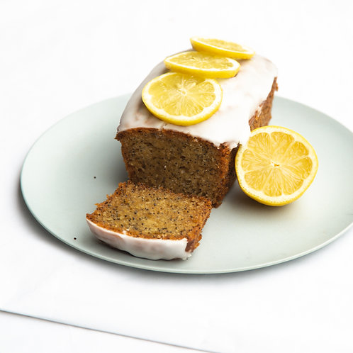Baby lemon poppy loaf cake