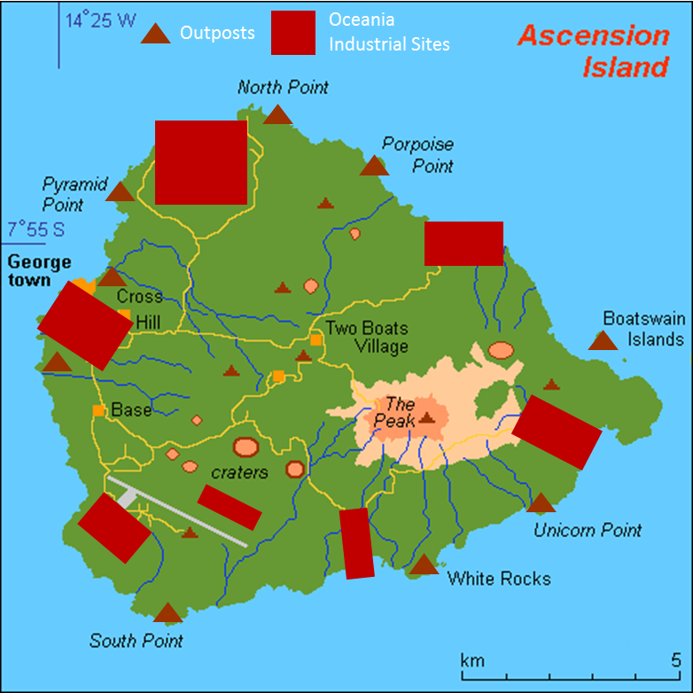 Ascension Island Map