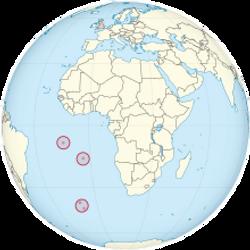 Oceania Island Locations on Globe
