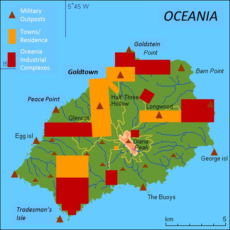 Oceania Island Map