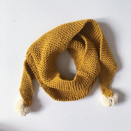 quika kids scarf mustard