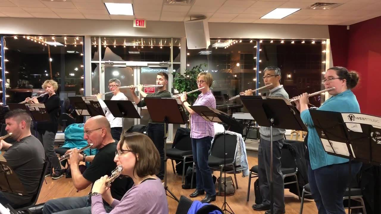 Can you believe our first performance is in two days?! Join us this Saturday at 1pm at the Iowa City Public Library to support these wonderful flutists!! 🎄☃️✨