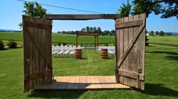 open barn doors pergola