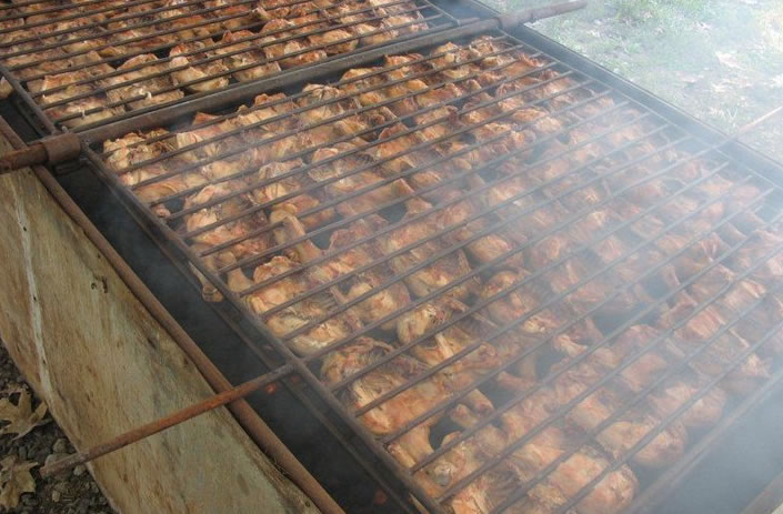 special event - chicken on grill