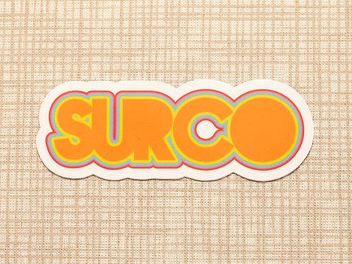 Surco Multicolor Text Sticker