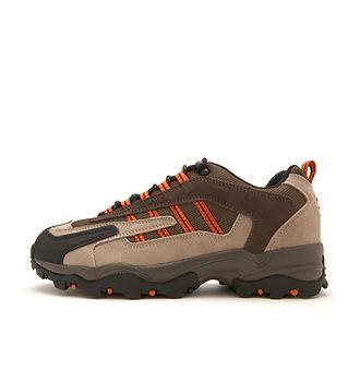 Brown y naranja de excursión el zapato