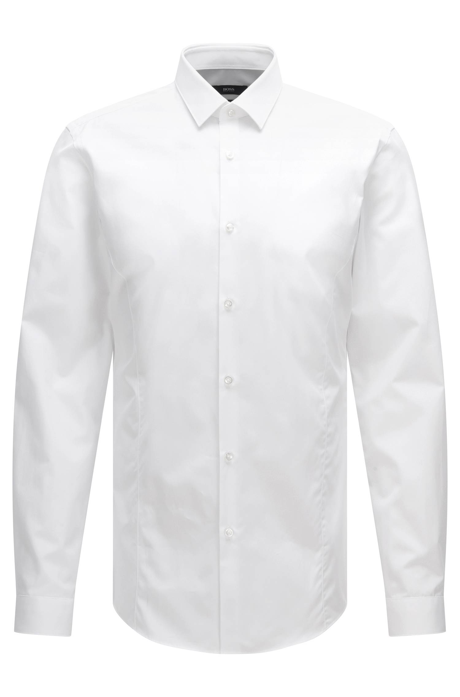 Plain slim-fit shirt 'Ilan'