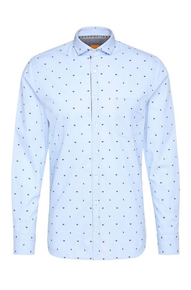 Patterned slim-fit shirt
