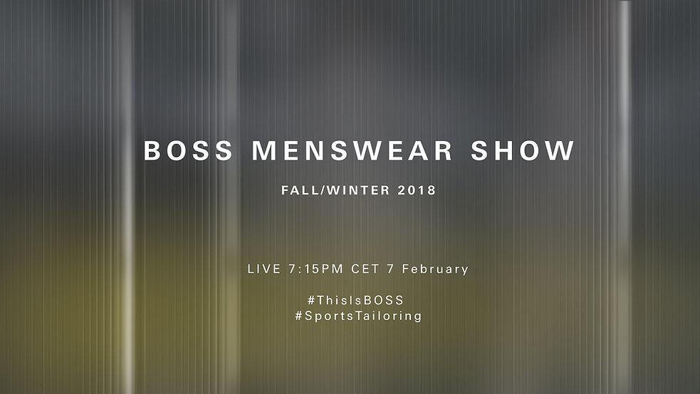 BOSS Menswear Show Fall/Winter 2018 New York Fashion Week Men