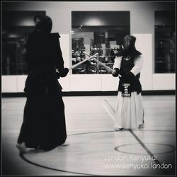 Instagram - #keiko with Josh #intense #Kamae #Kendo  #Londonkenyukai  #London