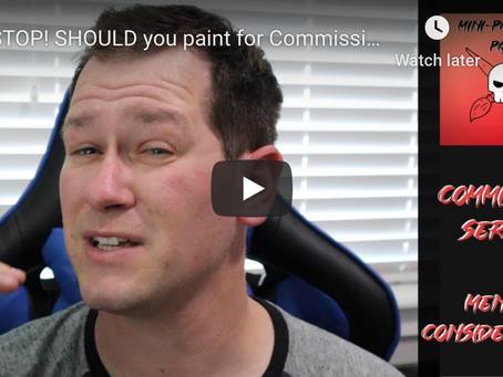 Mental Considerations Before Painting for Commissions.