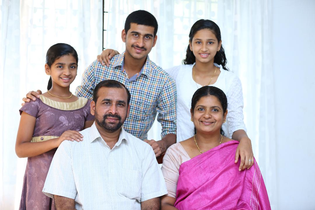 Benny Sankoorikal family.jpg