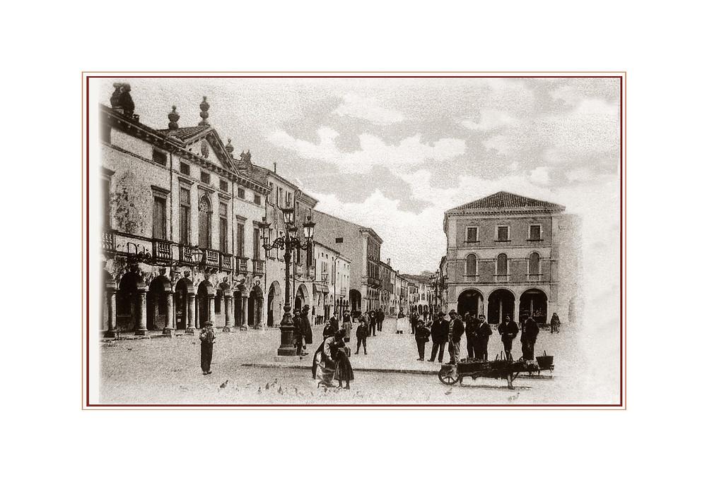 La Piazza di Montagnana, in veneto Liston