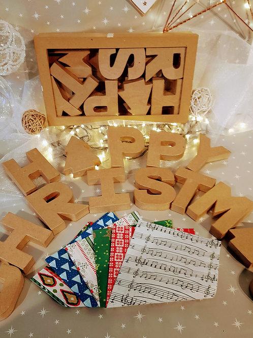Large3D Christmas letters