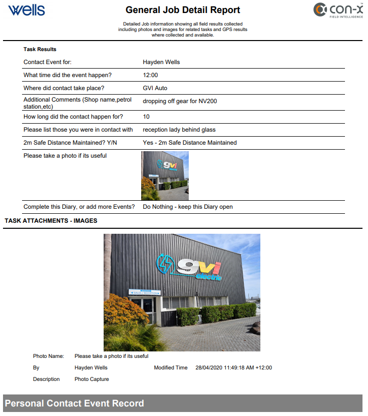 CON-X General Job Report-A