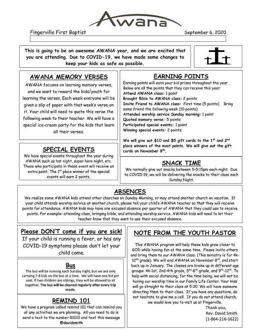 awana news letter for parents 081320-new