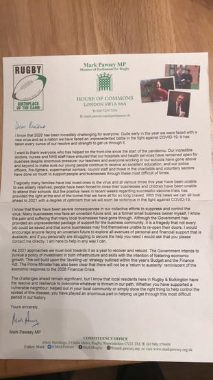 MP Letter of Support