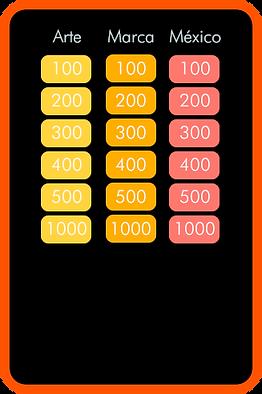 Concurso, jeopardy, tarjetas