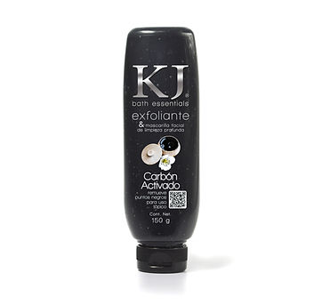 Bath essentials Exfoliante facial y corporal Gel limpieza diaria Carbón activado
