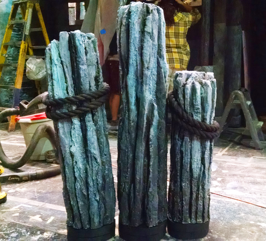 Carved Abstract Pilings