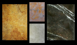 Faux Marble and Metal
