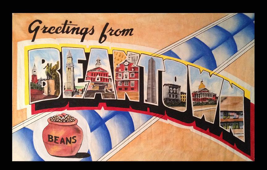 Linen Postcard