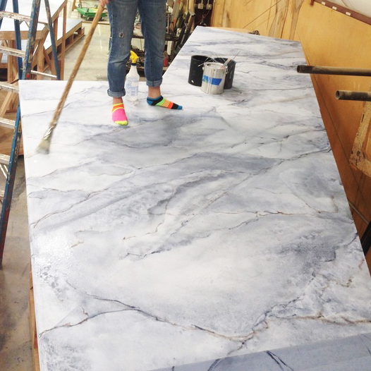 Faux White/Grey Marble
