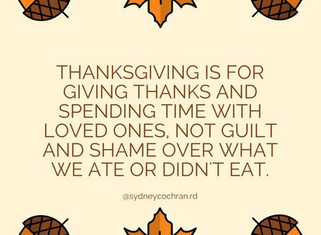 Avoiding Food Guilt on Thanksgiving