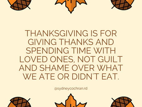 Avoiding Food Guilt on Thanksgiving