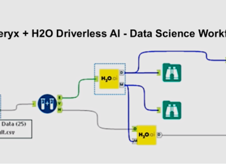 Data Science Workflow with H2O Driverless AI & Alteryx