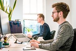 engineers working on computer