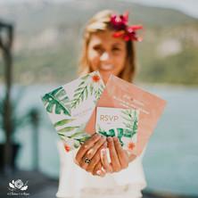 Faire-part mariage tropical