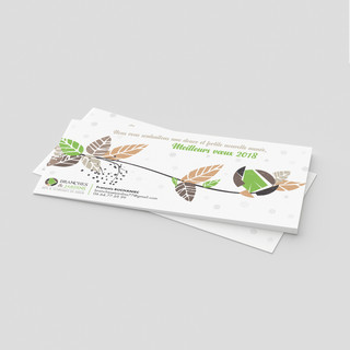 Carte de vœux Branches et Jardins
