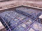 Post Tension and Rebar Reinforcement for a Concrete Foundation