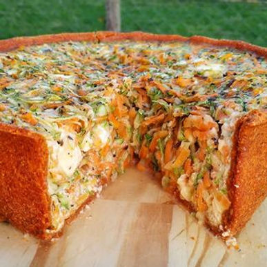 Tarta de zanahoria, zucchini y queso